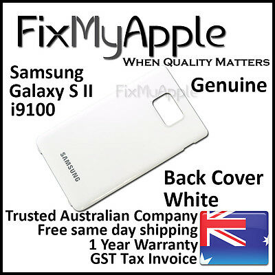 AU6.95 • Buy Samsung Galaxy S II S2 I9100 White Back Rear Cover Battery Housing Door Case New