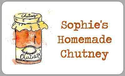 Homemade Chutney Jam Jar Stickers Personalised Pickle Watercolour Sticky Labels • 2.50£