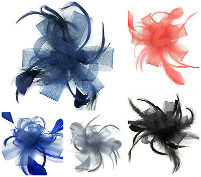 £5.99 • Buy Feather Comb Fascinator Ladies Day Wedding Races Royal Ascot Hair Piece