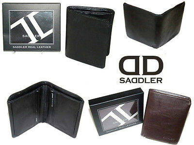 Saddler Buffalo Leather Mens Wallet Black Or Brown Gift Boxed Excellent Value • 22.50£