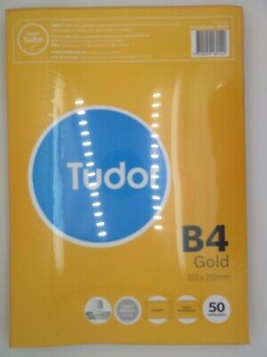 AU33.32 • Buy Tudor B4 Gold Envelope Peel N Seal Plain Face Pocket 353x250mm 50/Pk 140227