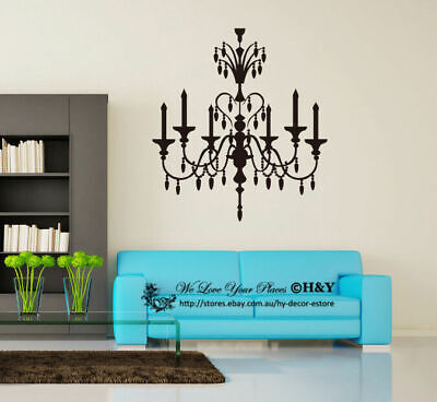 £13.08 • Buy Chandelier Removable Wall Stickers Vinyl Wall Decals Art Mural Home Decor Deco