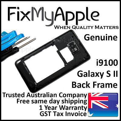 £6.32 • Buy Samsung Galaxy S2 I9100 Black Back Housing Frame Camera Lens Cover Replacement