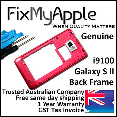 £6.32 • Buy Samsung Galaxy S2 I9100 Red Back Housing Frame Camera Lens Cover Replacement