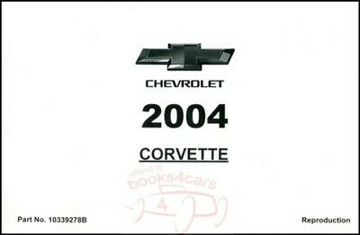 $59.95 • Buy 2004 Corvette Owners Manual Handbook Guide Book Z06 Convertible Chevrolet Chevy