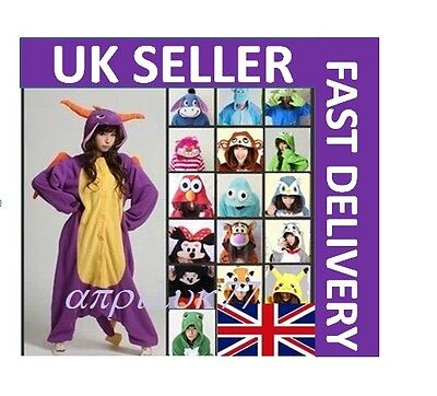 AU35.59 • Buy Unisex Adult Animal Onsie1 Onesie11 Anime Cosplay Pyjamas Kigurumi Fancy Dress