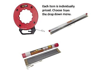 £9.49 • Buy CABLE ACCESS KITS KIT ELECTRICIANS PUSH PULL RODS WIRE Fish Tape Cable Wire Rod