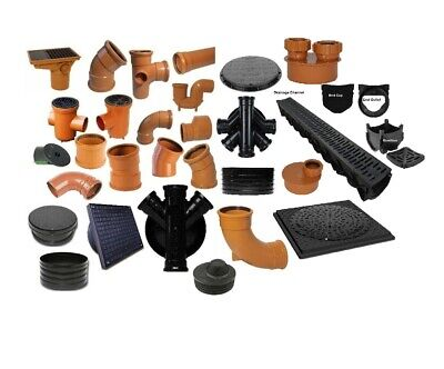 £11.99 • Buy Underground Drainage, Pipes, Fittings, Junctions, Bends & More All In 1 Listing