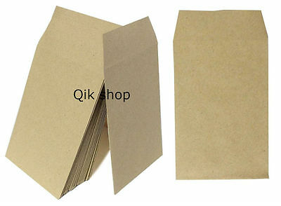 50,100 Small Brown Money/ Wages/ Dinner Money/ Coin/ Seed Envelopes 100X62 Mm • 2.20£