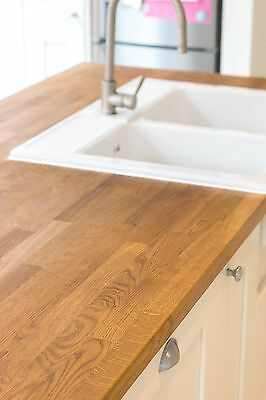 £7.99 • Buy SOLID OAK WOOD KITCHEN WORKTOPS. ALL SIZES IN STOCK. BEST QUALITY 40mm THICKNESS