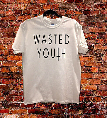 £11.50 • Buy Wasted Youth Cross Inverted Hipster Indie Swag Funny T Shirt Men Women Kids
