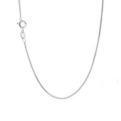 $66.99 • Buy Solid 14k White Gold BOX Chain 14kt Box Necklace Made In ITALY **HIGH QUALITY**