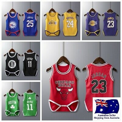 AU20.95 • Buy Baby Infant Toddler Basketball Jersey Romper Jumpsuit One Piece Clothes 0-3Year