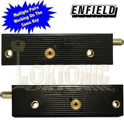 £33 • Buy Enfield D613 Garage Door Bolts Locks Multiple Pairs All Working On The Same Key