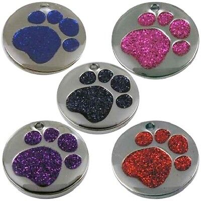 Engraved Pet Tags DOG CAT ID Disc Disk FREE Post & Deep Engraving Pup Kitten • 3.19£