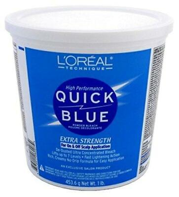$27.99 • Buy L'OREAL Technique Quick Blue Powder Bleach For On & Off Scalp Application 1lb