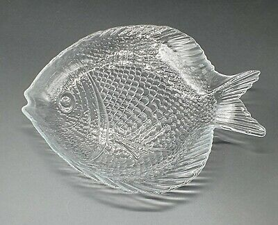 £19.99 • Buy 6 X Glass Fish Shaped Serving Side Plates Platter, Perfect For A Starter Or Dips