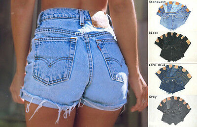 £13.95 • Buy Vintage Womens Levis Denim High Waisted Shorts Jeans Hotpants All Sizes Cut Offs