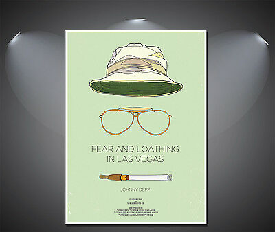£7.90 • Buy Fear And Loathing In Las Vegas Vintage Movie Poster - A0, A1, A2, A3, A4 Sizes