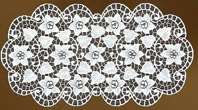 Oval Floral Cream Or White Lace Table Mat/Doily/Napkin (16  X 32 ) (40 - 80 Cm)  • 7.99£