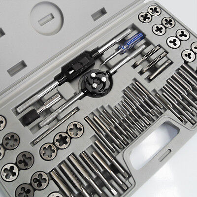 AU78.99 • Buy 60PC QUALITY ALLOY METRIC IMPERIAL TAP & DIE SET Thread Taper Drill Tool KIT