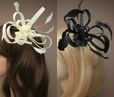 £6.99 • Buy Large Comb Feather Fascinator Ladies Day Wedding Races Royal Ascot  18