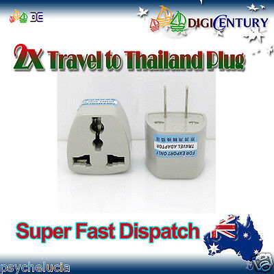 AU4.99 • Buy 2x Power Plug Australia Travel To China, Japan, Thailand, Mexico Adapter 2 Pin