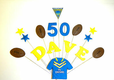 £11.50 • Buy  Rugby Team Birthday Cake Topper/ Decoration Custom Personalised Name And Age