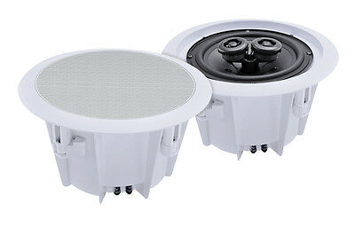£43.99 • Buy E-audio Domestic & Commercial 8  2 Way Ceiling Speakers Pair (8 Ohms 180W) PAIR