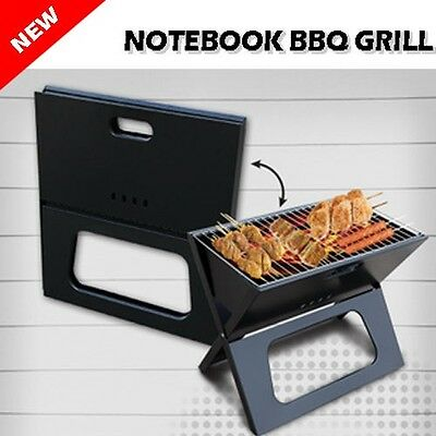 AU29.99 • Buy Portable Notebook Grill Foldable Folding Charcoal BBQ Camping Picnic Barbecue