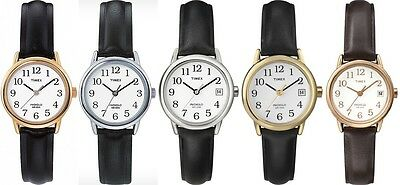 Timex Classic Ladies Watch - Easy Reader - Indiglo - Leather Strap • 44.99£