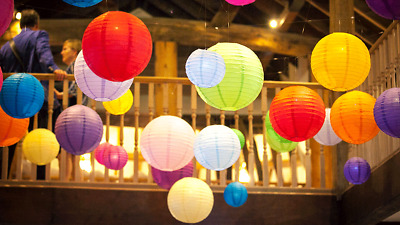 £5.65 • Buy Chinese Paper Lanterns Lamp Shade Wedding Birthday Party Decoration All Size