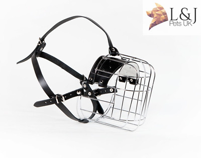 £25.99 • Buy New Strong Metal Wire Basket Dog Muzzle Great Dane