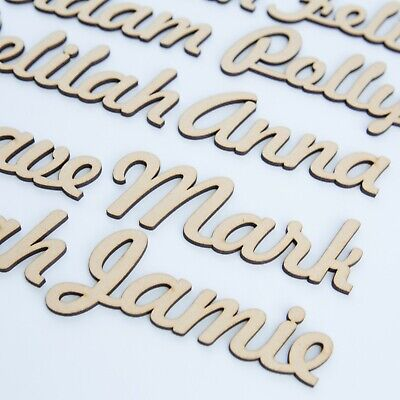 £5.05 • Buy Script Names, Letters Or Words. Wooden 3.2mm Thick High Quality MDF Wedding FH