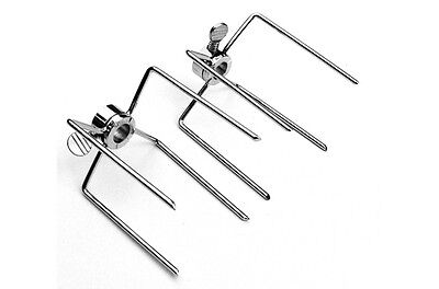 £11.99 • Buy Bbq Charcoal Or Gas Replacement Rotisserie Spit Forks X 2