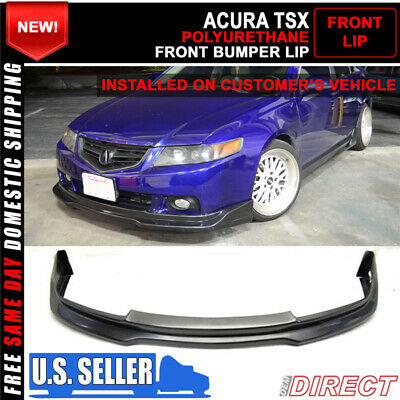 $175.99 • Buy For 04-05 Acura TSX P1 Style Front Bumper Lip - Unpainted PU