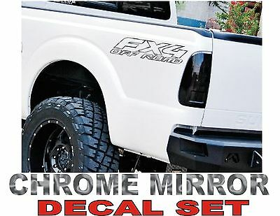 $9.89 • Buy 4x4 Fx4 Truck Bed Decals, CHROME (Set) For Ford F-150 And Super Duty