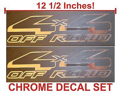 $9.89 • Buy 4x4 Off Road Truck Bed Decals, CHROME (Set) For Ford F-150 And Super Duty