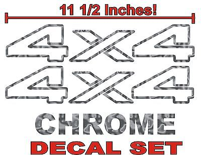 $11.99 • Buy  4x4 Truck Bed Decals, CHROME (Set) For Dodge Ram Or Dakota