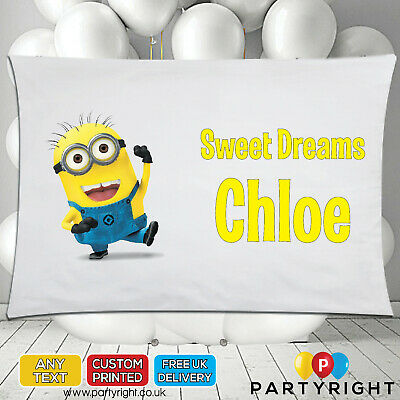 Personalised Minions Despicable Me Kids Pillowcase Pillow Case • Great Gift • 8.99£