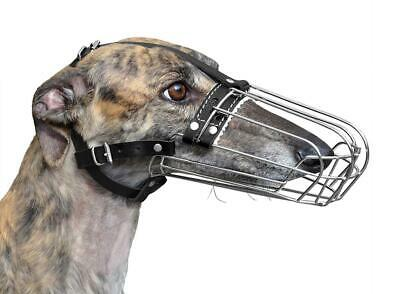 £21 • Buy  New Metal STRONG Wire Basket Dog Muzzle Greyhound Collie And Similar Dogs 3D