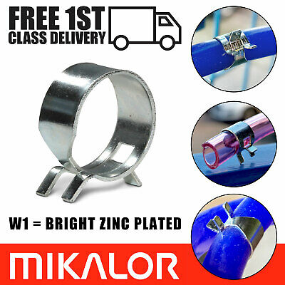 £3.95 • Buy Spring Hose Clips/Fuel Clamps Mikalor Air Gas Water Pipe Self Clamping | 10 Pack