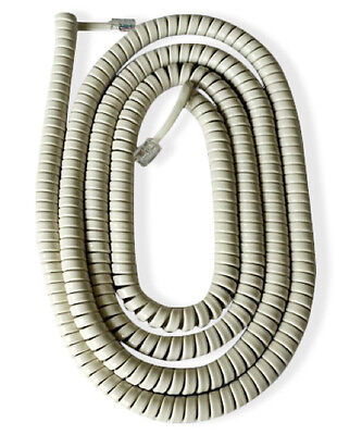 £5.99 • Buy American Style Telephone Curly Cord (Extra Long) Available In Black Or White