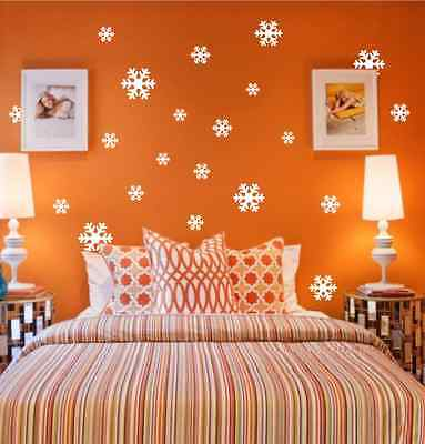 18 X Snowflakes Christmas Decoration Wall Stickers, Wall Art, Wall Graphics UK • 0.99£