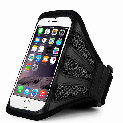 IPhone 6 4.7  Black Mesh Running, Jogging, Cycling Armband Mobile Phone Cover • 1.49£