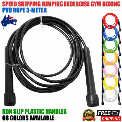 AU9.99 • Buy Speed Skipping Ropes Fitness Cardio Exercise Gym Boxing Mma Sports Training 3mtr