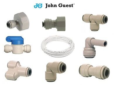1/4  Water Filter Push In John Guest Push Fit Tap Connectors Filter Tubing White • 2.99£