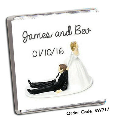 £17.98 • Buy 100 Personalised Chocolate Wedding Favours And Free Chocolate!