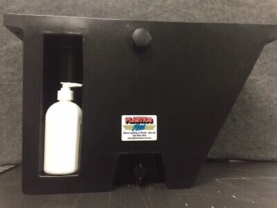 AU169 • Buy Vehicle Water Tank With Soap Dispenser (25L) Under Tray Ute Tank Angled Black LH
