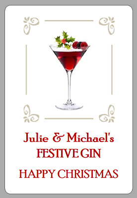 £2.50 • Buy Homemade Festive Gin Labels Personalised Sloe Homebrew Christmas Gift Stickers
